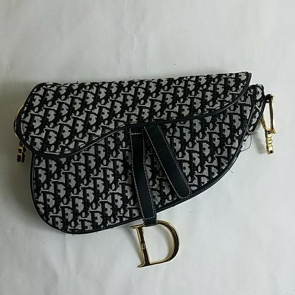 1406334f8d7f Christian Dior Handbags - Christian Dior Paris Canvas Evening Bag Purse Blue